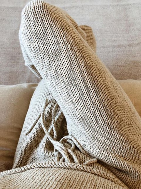 Women Drawstring Solid Casual Winter Pants