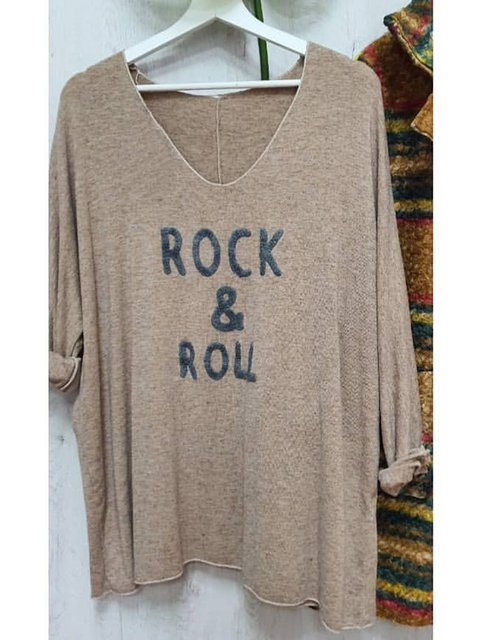 Women Letter V-Neck Casual T-Shirts