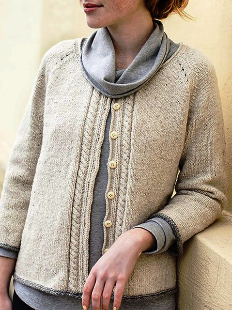 Holiday Knitted Plain Outerwear