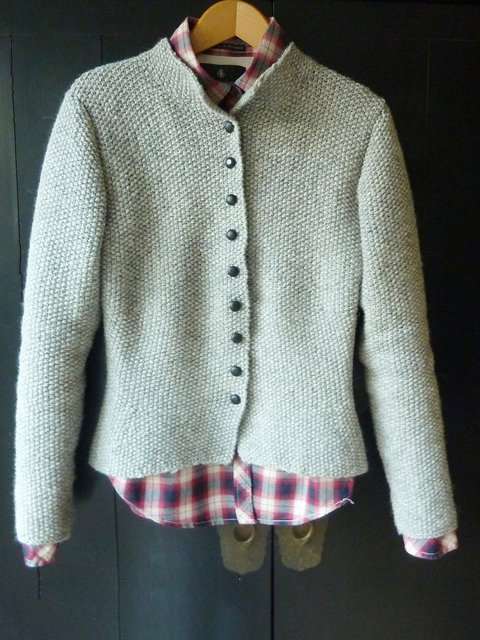 Long Sleeve Solid Knitted Buttoned Sweater