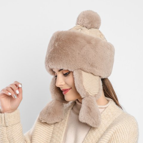 Faux Fur Casual Earmuffs Warm Hats