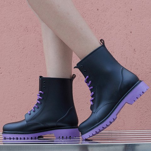 WomensLace-Up All Season  Rain Boot