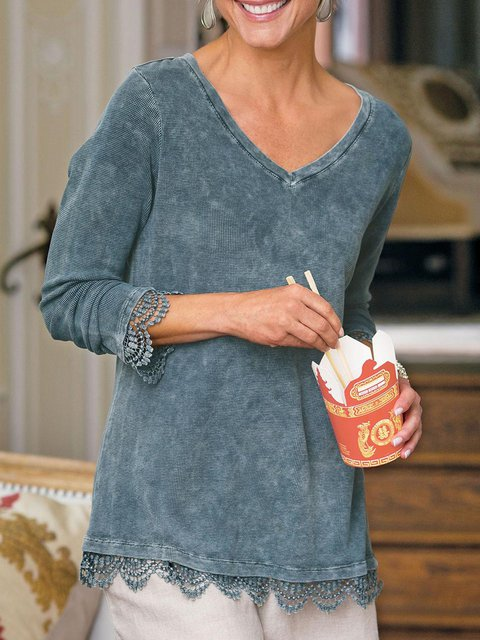 Gray Casual Plain Sweatshirt