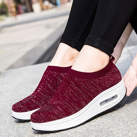 Women Slide Casual Creepers Heel All Season Sneakers