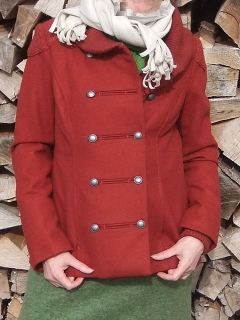 Solid Vintage Buttoned Coat Plus Size Shawl Collar Jacket