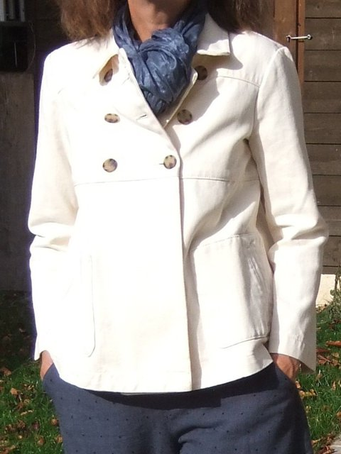 Solid Buttoned Jacket Plus Size Shawl Collar Vintage Coat