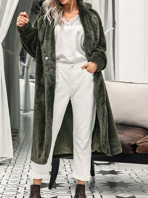 Shawl Collar Long Sleeves Outerwear