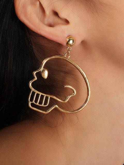 Women Skull Aolly Drop Earrings