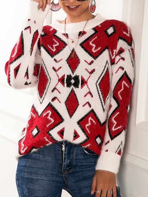 Vintage Knitted Sweater Winter Pullovers