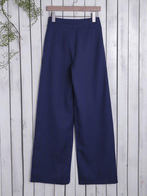 Pure Color Plus Size Casual Loose Pants