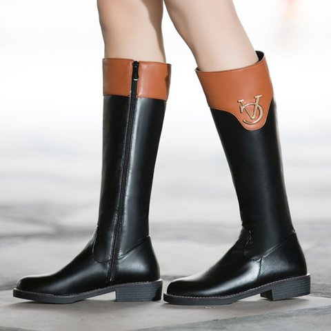 Womens Casual Daily Button Fall Low Heel Boots