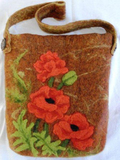 Brown Casual Shoulder Bags