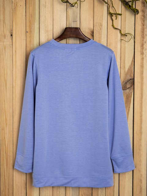 Letter long sleeve T-shirt vest