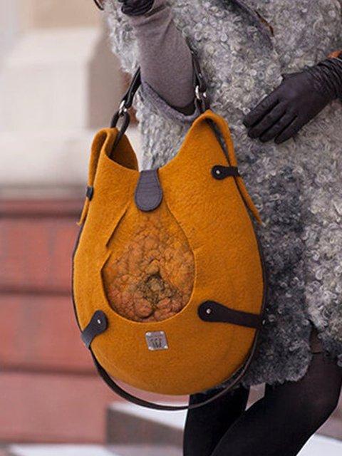 Orange Casual Shoulder Bags