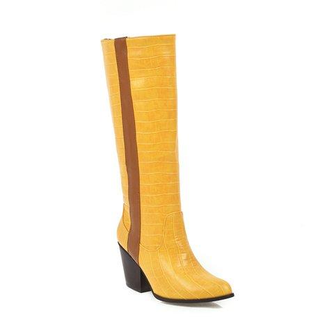 Women Chunky Heel Winter Long Boots