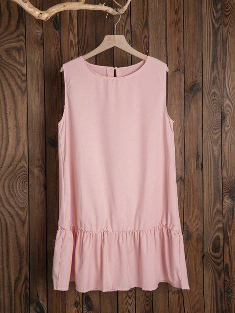 Shift Women Daily Sleeveless Basic Solid Summer Dress