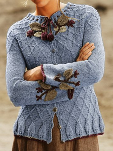 Shift Crew Neck Floral Simple & Basic Outerwear