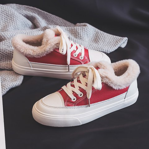 Women Casual Lace-Up Winter Sneakers