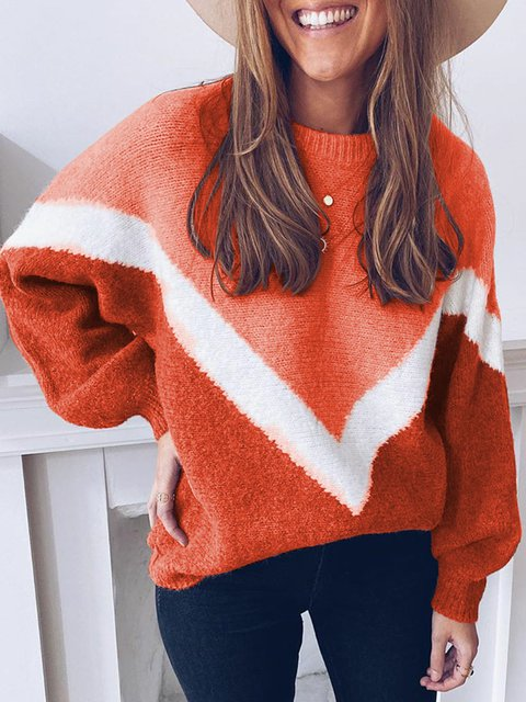 Solid Sweater Women Plus Size Jumper