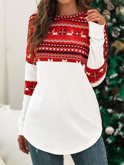 Christmas Long Sleeve Tops