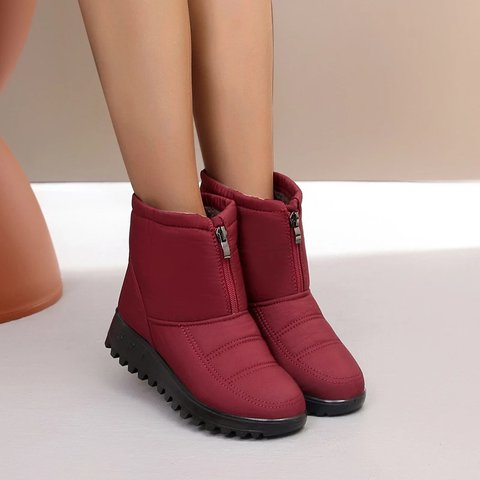 Women's Winter Non-slip Plus Velvet Flat Cotton Boots