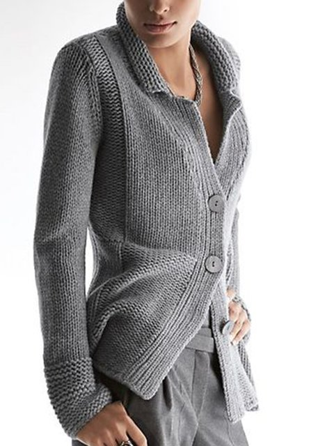 Gray Cotton-Blend Vintage Outerwear