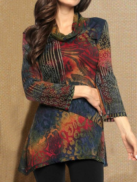 Multicolor Casual Long Sleeve Shirts & Tops