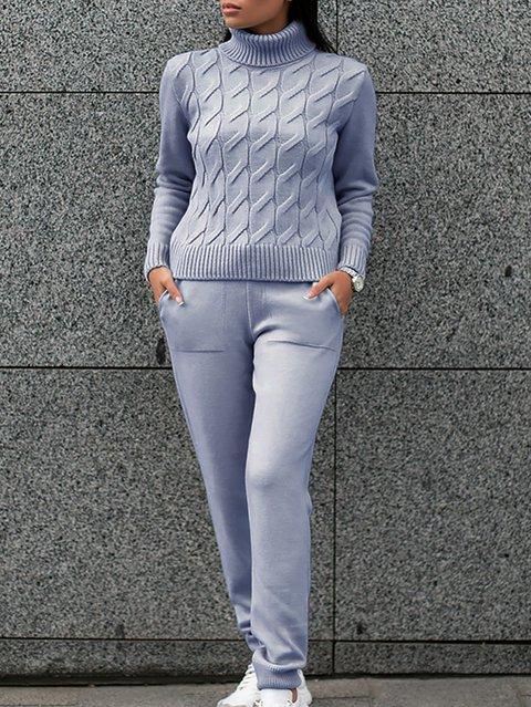Vintage V Neck Plain Suits