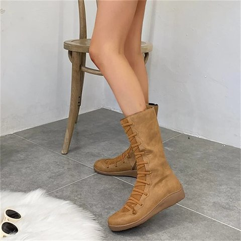 Women's Autumn/Winter Casual Zipper Flat High Boots