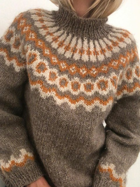 Vintage Turtle Neck Sweater Plus Size Jumper