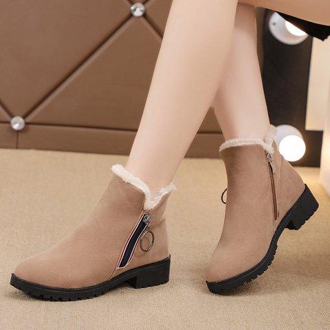 Mid-Calf Low Heel Winter Snow Boots