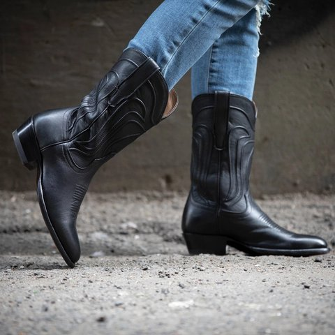Vintage Winter Daily Chunky Heel Mid-Calf Boots
