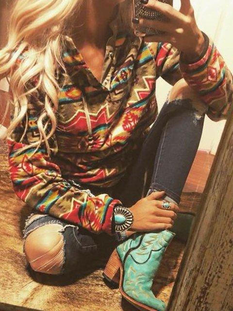 Long Sleeve Stand Collar Sweatshirt
