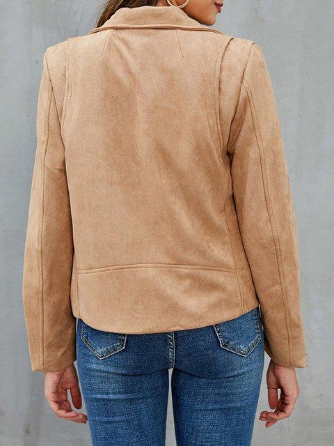 Khaki Cotton Casual Jackets