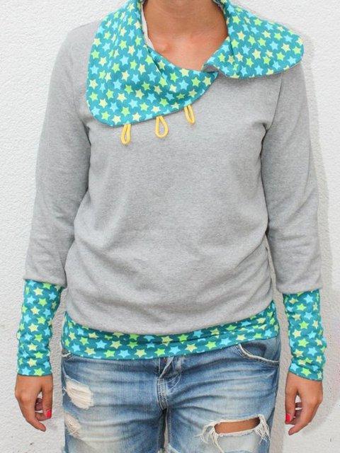 Polka Dots Long Sleeve Casual Shirts & Tops