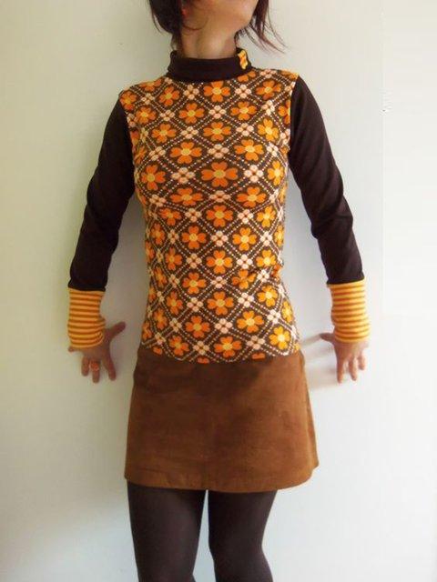 Long Sleeve Floral Printed Paneled Casual Hoodie Dresses