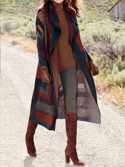 Brown Vintage Knitted Cardigan