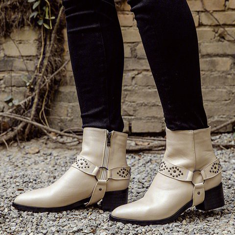Women  Winter  Slip-On Artificial Leather Boots