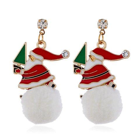 Snowflake Earrings Santa Claus Earrings