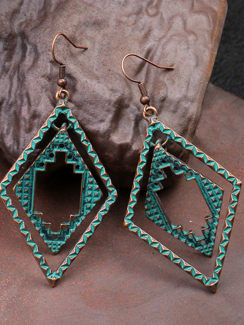 Vintage Casual Alloy Earrings