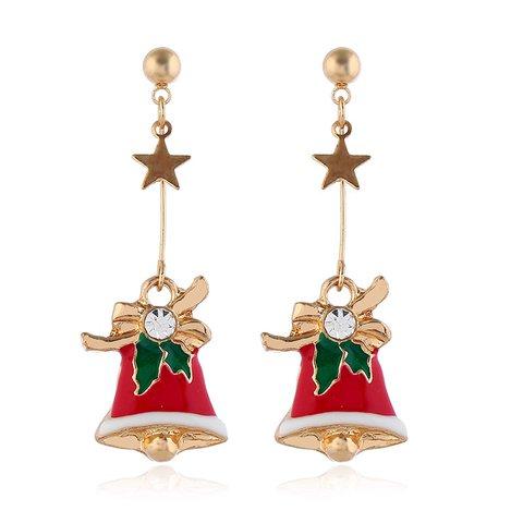 Simple Stylish Bells Christmas Earrings