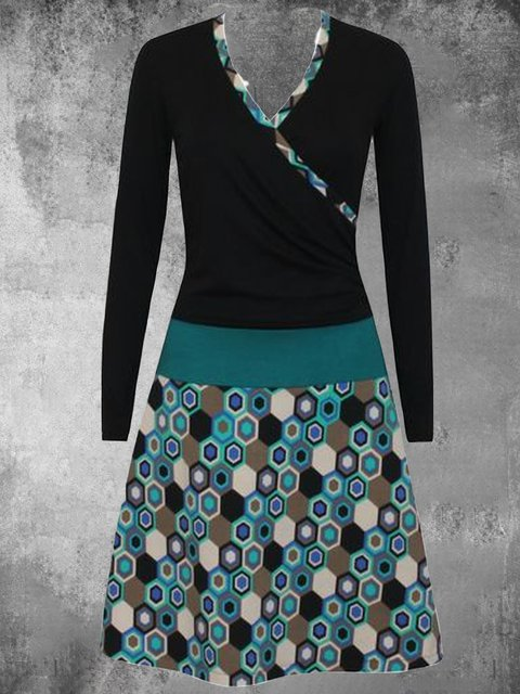Printed Casual Cotton-Blend Dresses