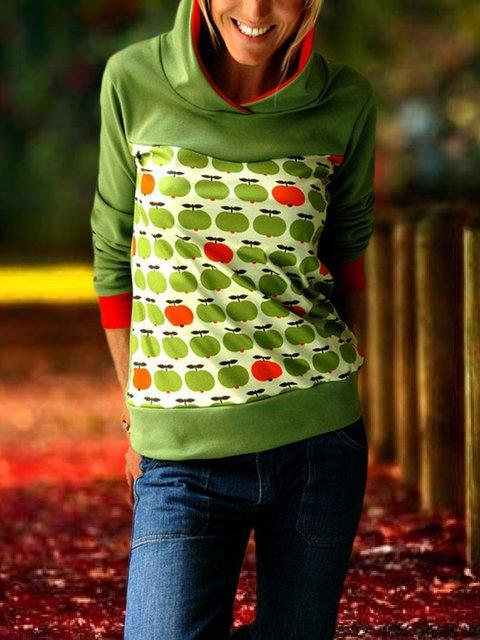 Shift Hoodie Long Sleeve Cotton-Blend Outerwear