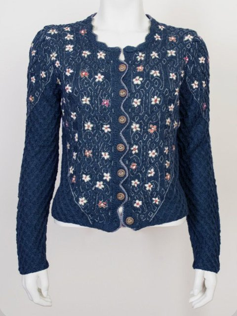 Embroidery Casual Long Sleeve Sweater