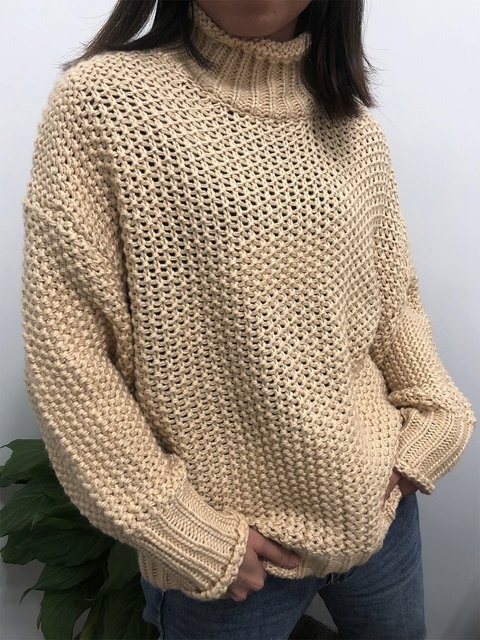 Knitted Shift Long Sleeve Sweater