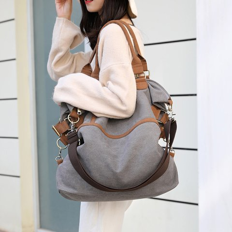 Women's Casual Canvas Shoulder Bags