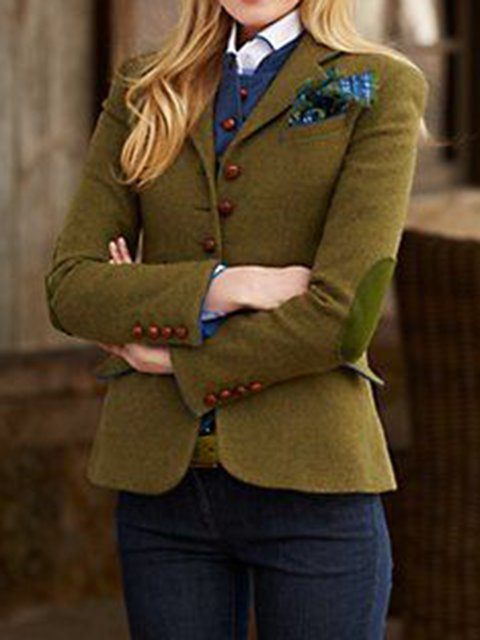 Green Cotton Vintage Outerwear