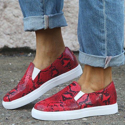 Womens Slip On Flat Heel Plus Size Sneakers