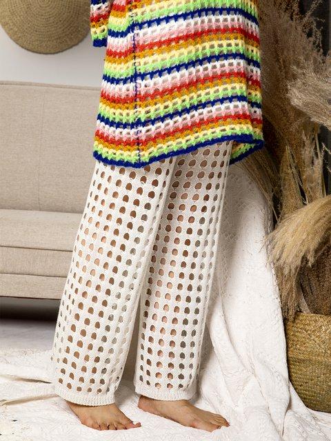 Women Cutout Drawstring Shift Knitted Pants