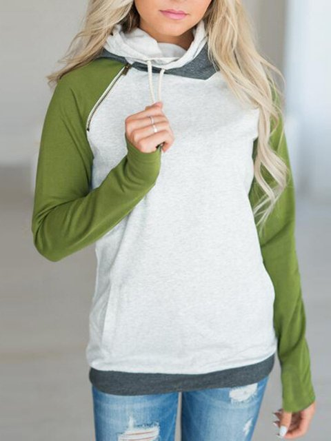 Plain Long Sleeve Casual Sweatshirt